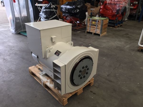 Side view of a stamford alternator 258 KVA